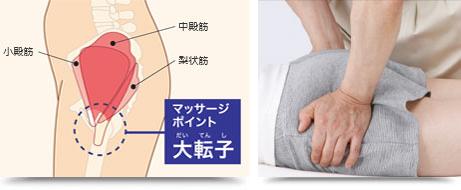 マッサージポイント 大転子(だいてんし)